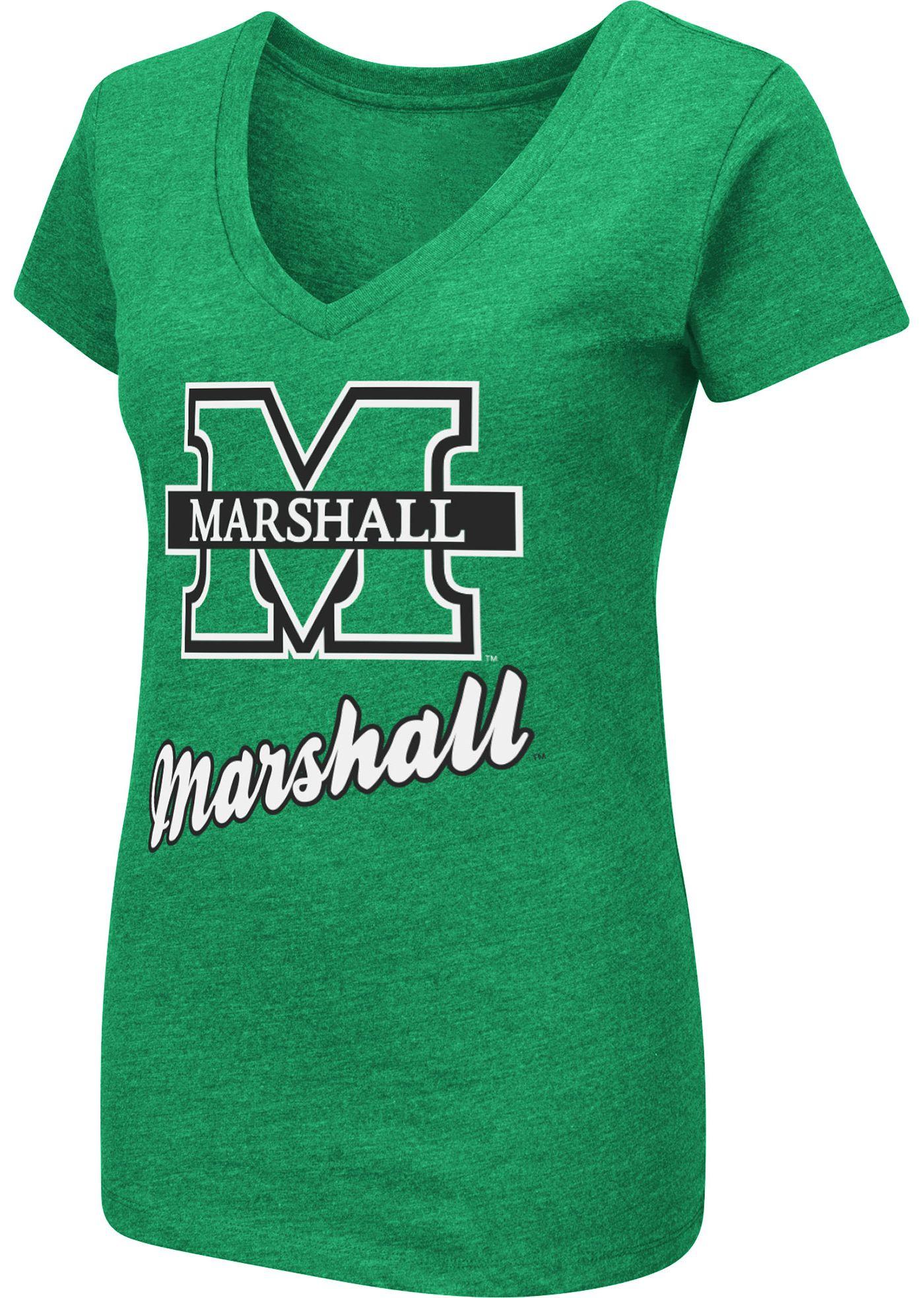Colosseum Women's Marshall Thundering Herd Green Dual Blend V-Neck T-Shirt