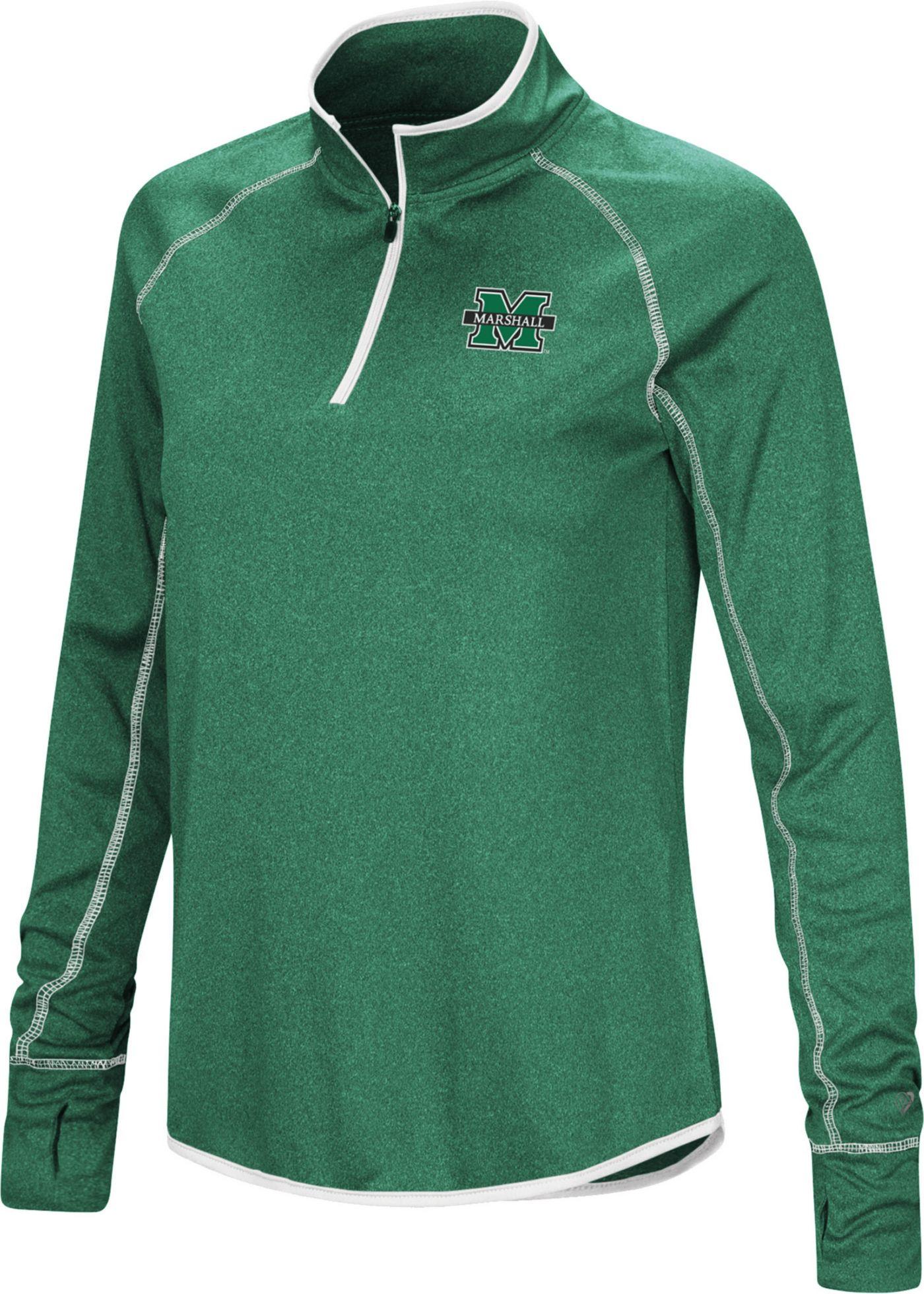 Colosseum Women's Marshall Thundering Herd Green Stingray Quarter-Zip Shirt