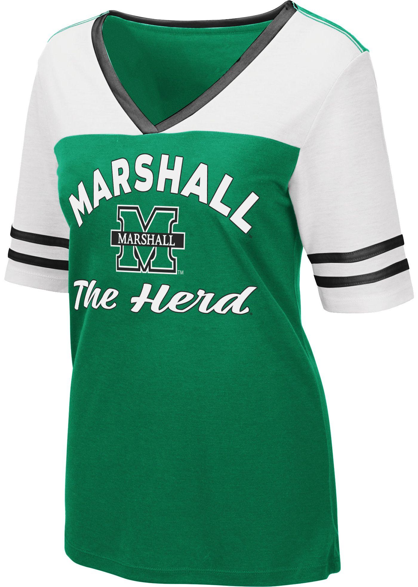Colosseum Women's Marshall Thundering Herd Green Samantha T-Shirt