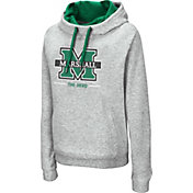 Colosseum Women's Marshall Thundering Herd Grey Lily Funnel Neck Pullover Hoodie