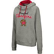Colosseum Women's Maryland Terrapins Grey Studio Funnel Pullover Hoodie