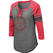 Colosseum Women's Maryland Terrapins Grey Carrie Long Sleeve T-Shirt