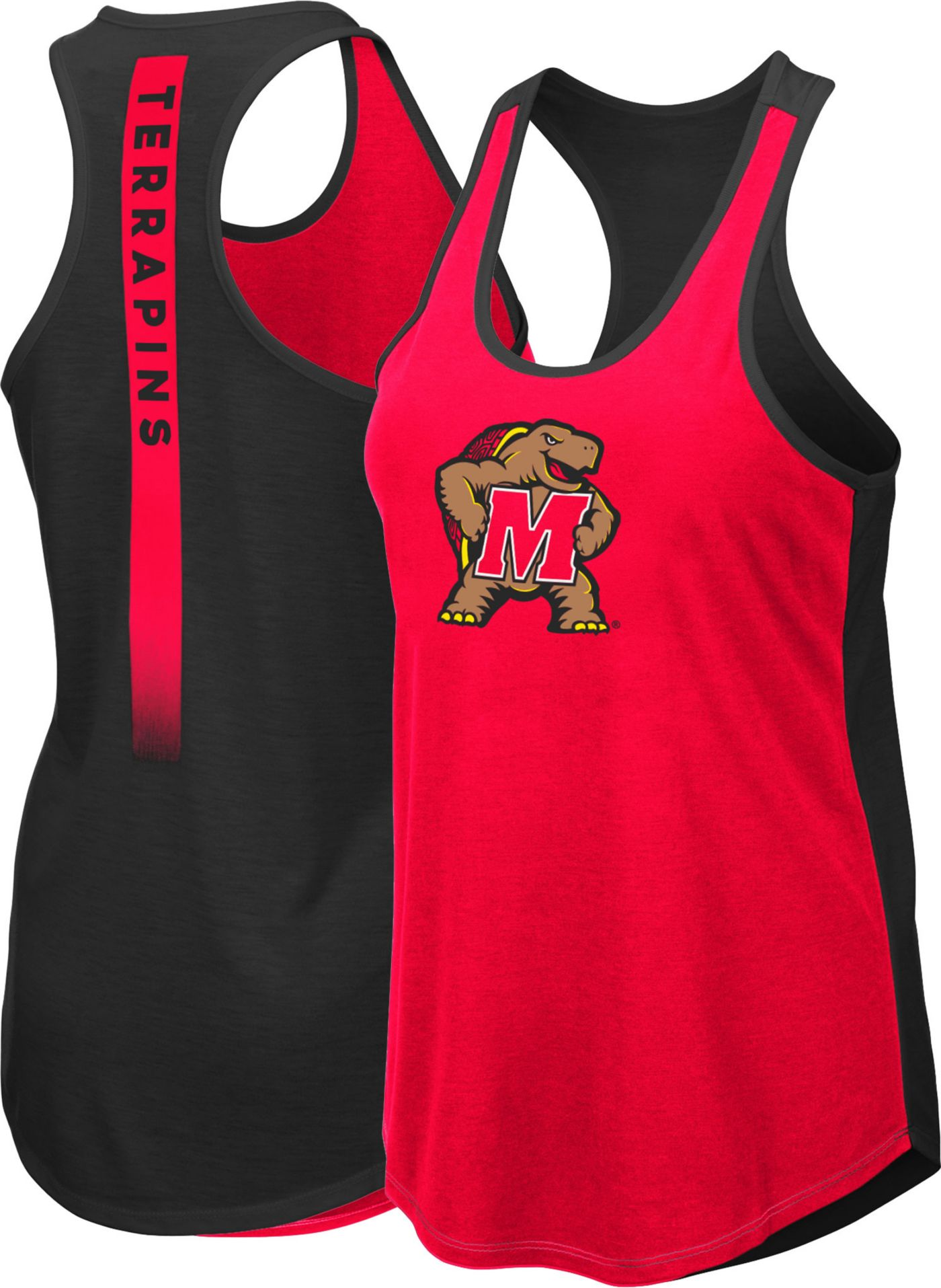 Colosseum Women's Maryland Terrapins Red/Black Publicist Tank Top