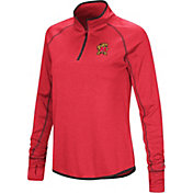Colosseum Women's Maryland Terrapins Red Stingray Quarter-Zip Shirt