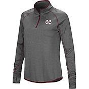 Colosseum Women's Mississippi State Bulldogs Grey Stingray Quarter-Zip Shirt