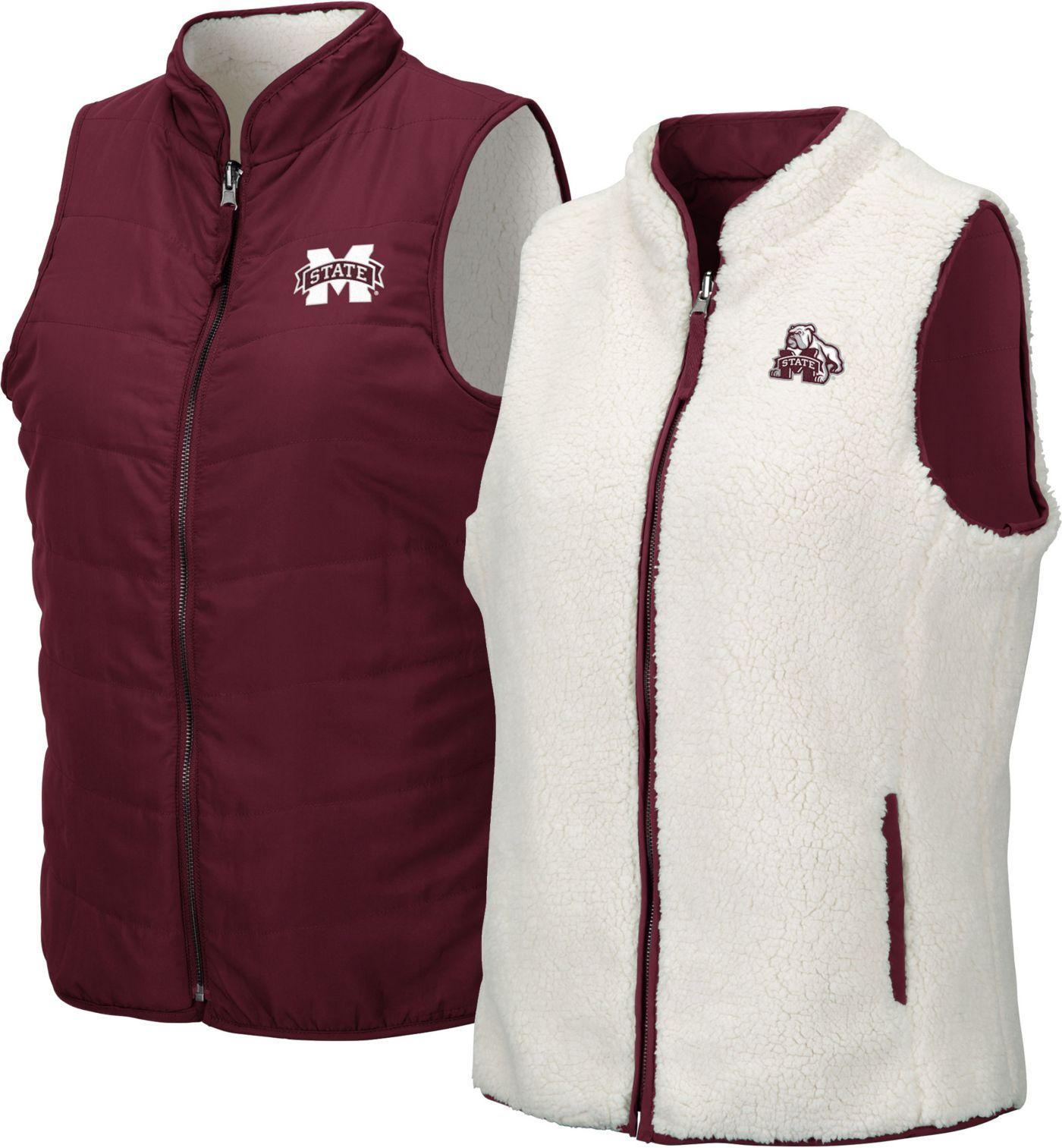 Colosseum Women's Mississippi State Bulldogs Maroon Blatch Reversible Full-Zip Vest