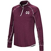 Colosseum Women's Mississippi State Bulldogs Maroon Stingray Quarter-Zip Shirt