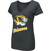 Colosseum Women's Missouri Tigers Dual Blend V-Neck Black T-Shirt