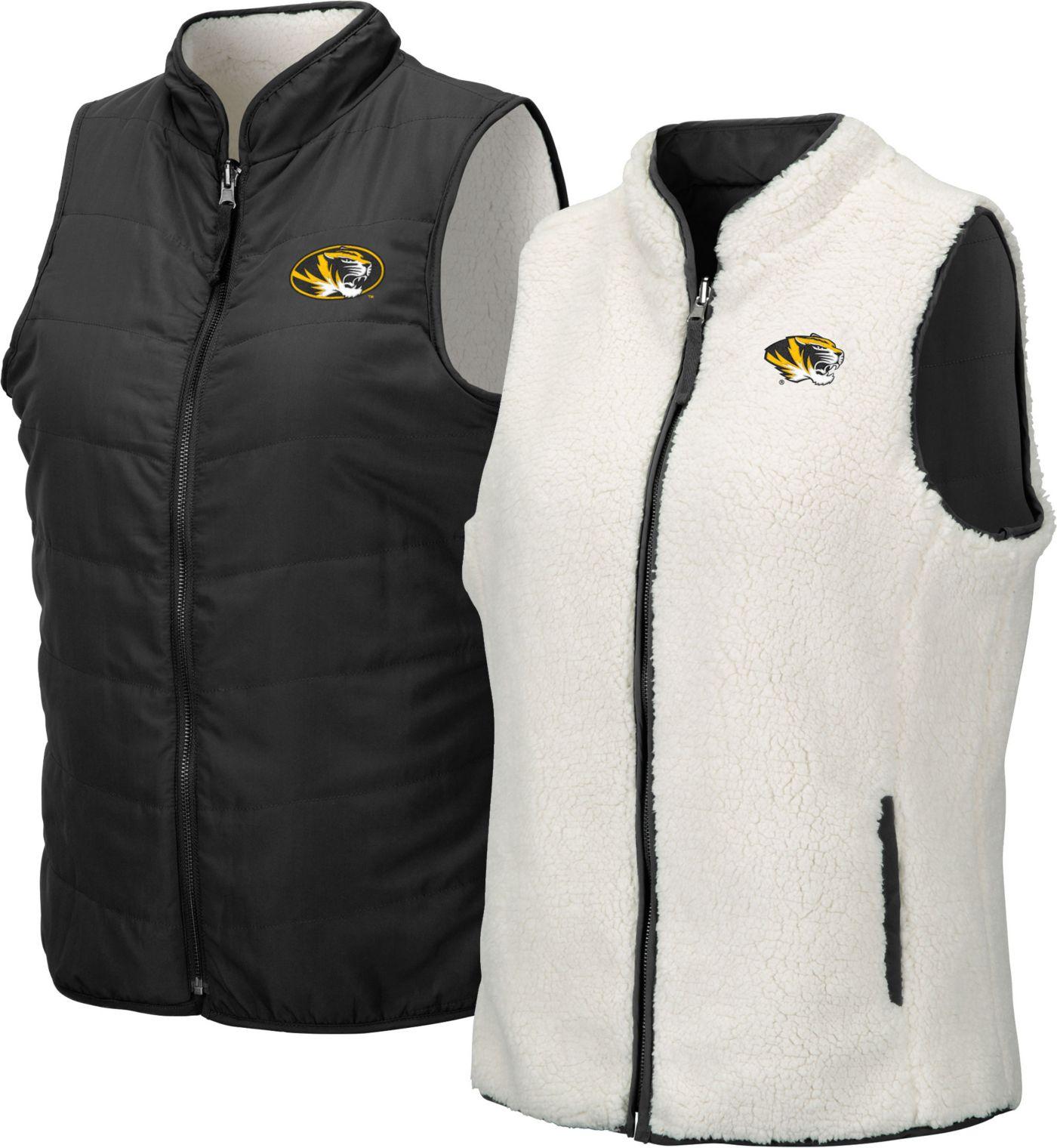 Colosseum Women's Missouri Tigers Blatch Reversible Full-Zip Black Vest