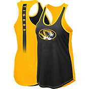 Colosseum Women's Missouri Tigers Black/Gold Publicist Tank Top
