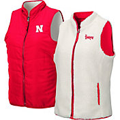 Colosseum Women's Nebraska Cornhuskers Scarlet Blatch Reversible Full-Zip Vest