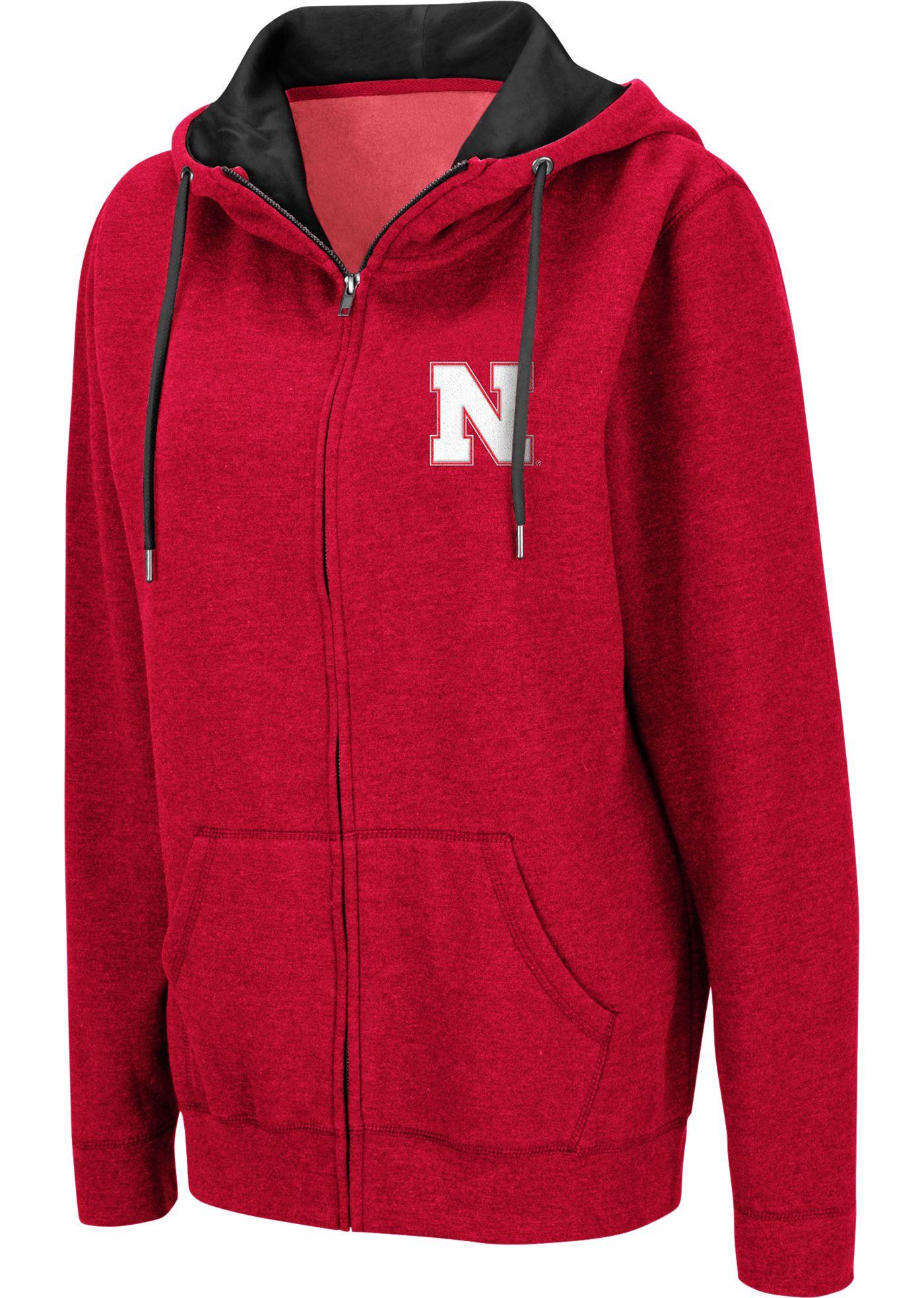 Colosseum Women's Nebraska Cornhuskers Scarlet Full-Zip Hoodie
