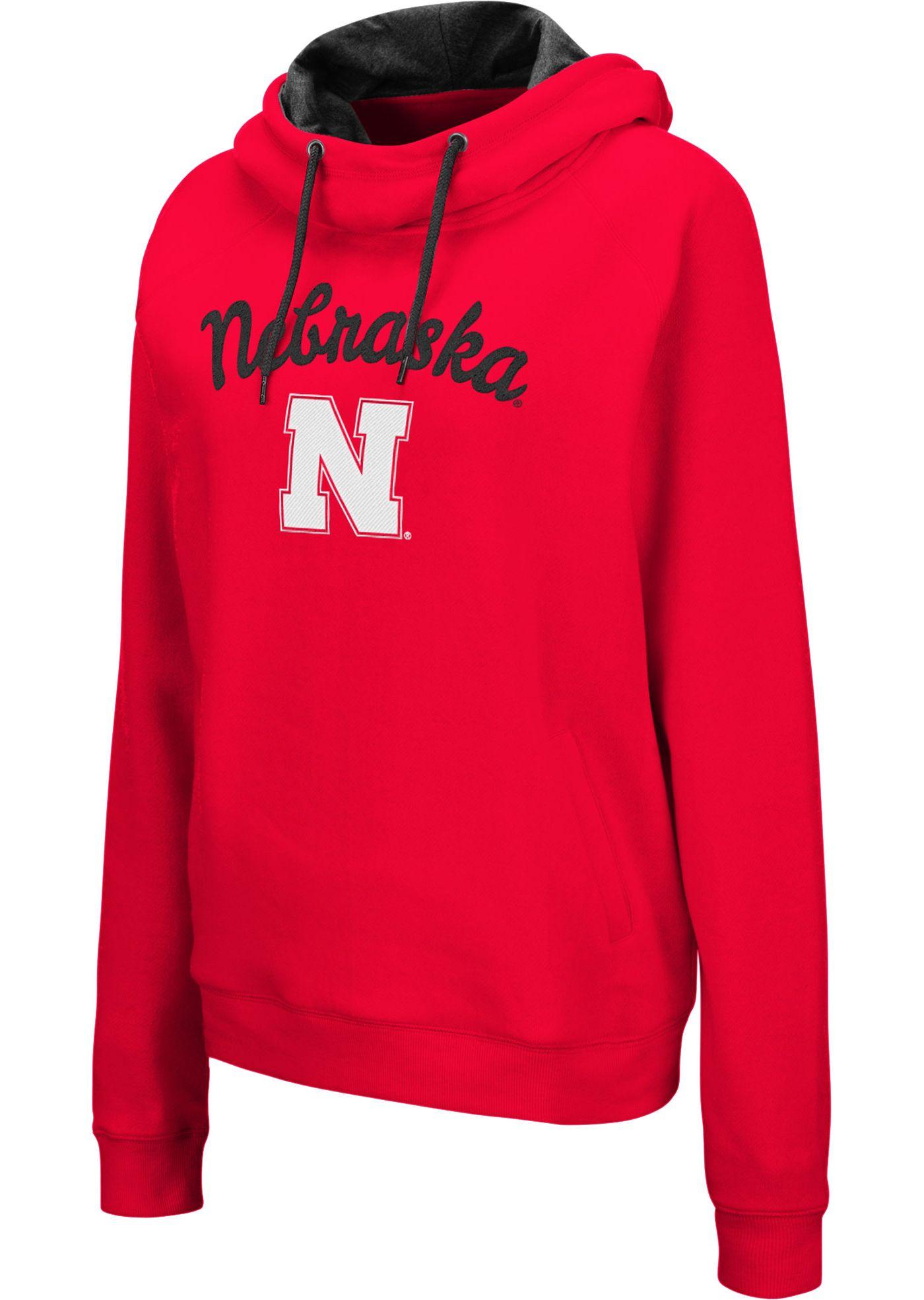 Colosseum Women's Nebraska Cornhuskers Scarlet Louise Pullover Sweatshirt
