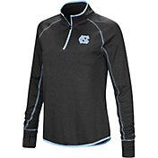 Colosseum Women's North Carolina Tar Heels Stingray Quarter-Zip Black Shirt