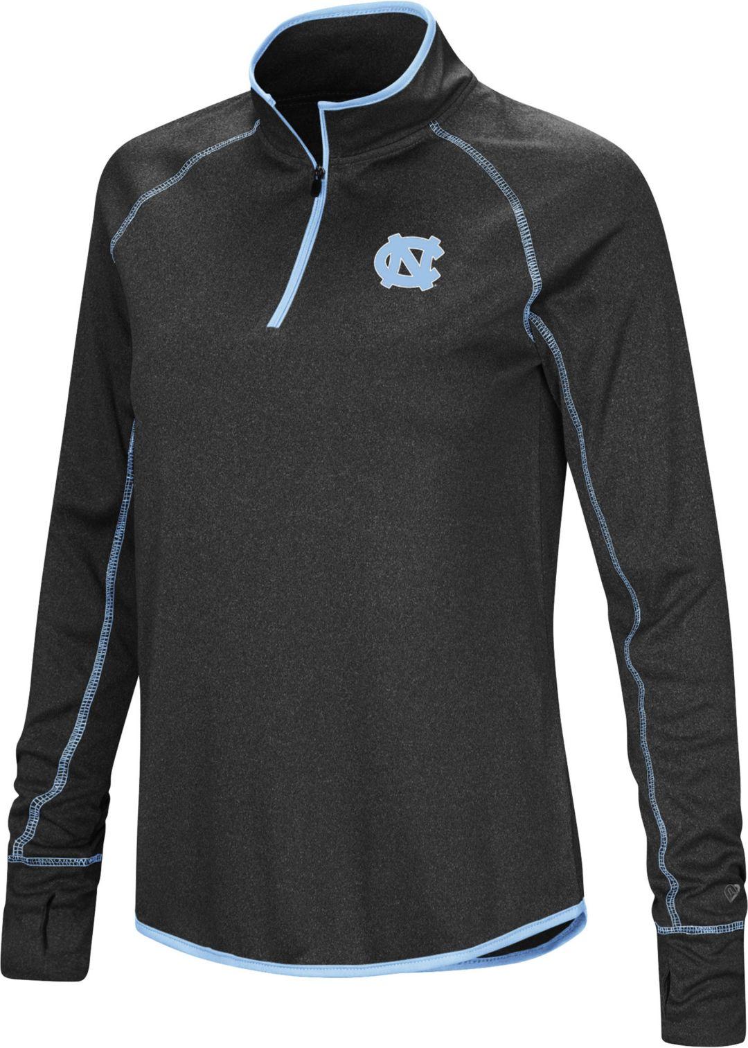 reputable site cc907 8b774 Colosseum Women's North Carolina Tar Heels Stingray Quarter-Zip Black Shirt