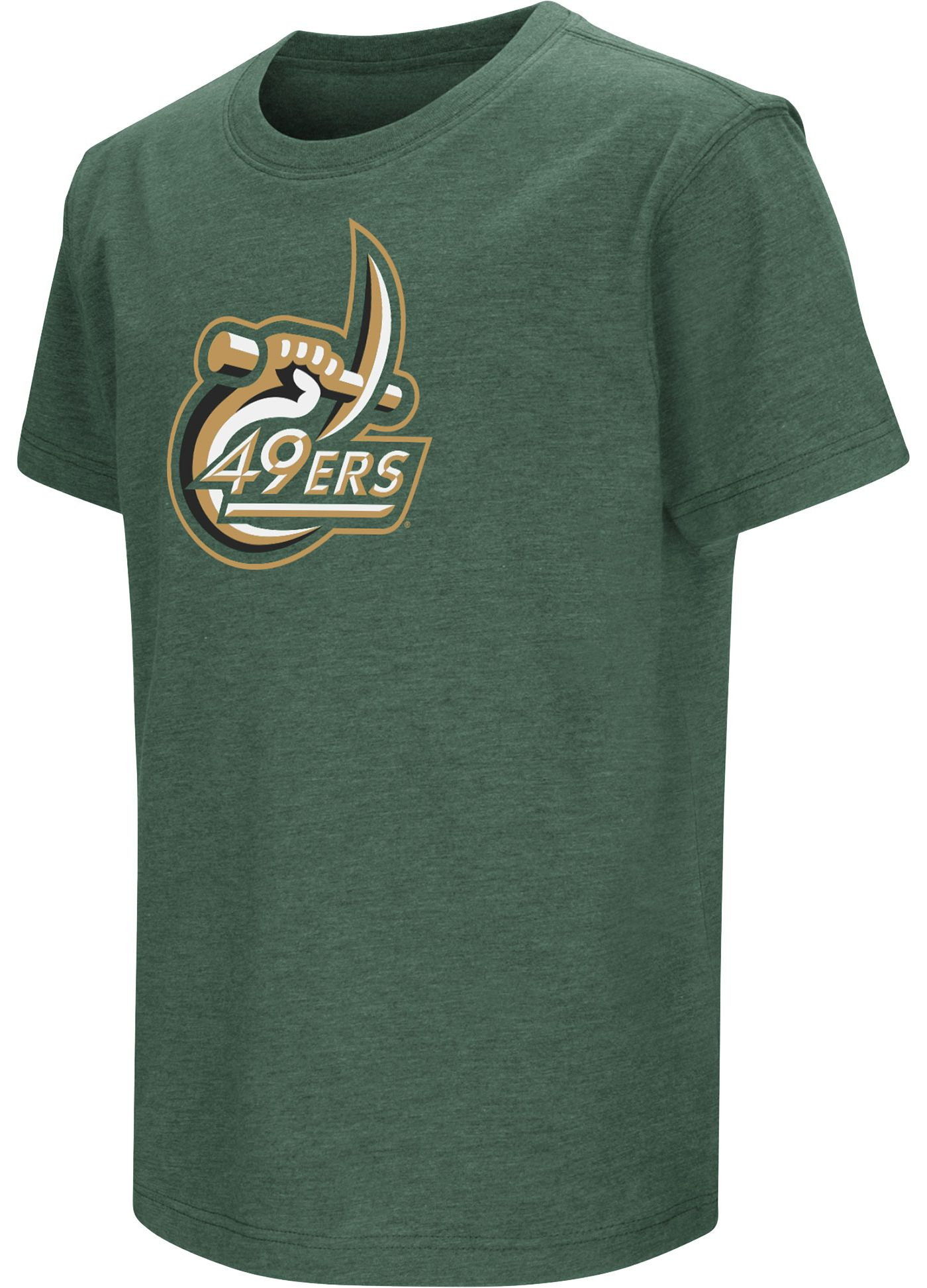 Colosseum Youth Charlotte 49ers Green Dual Blend T-Shirt