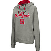 Colosseum Women's NC State Wolfpack Grey Studio Funnel Pullover Hoodie
