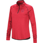 Colosseum Women's NC State Wolfpack Red Stingray Quarter-Zip Shirt