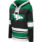 Colosseum Women's North Dakota Fighting Hawks Choo Hockey Pullover Black Hoodie