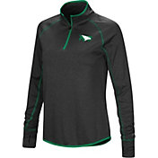 Colosseum Women's North Dakota Fighting Hawks Stingray Quarter-Zip Black Shirt