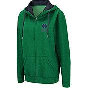 Colosseum Women's Notre Dame Fighting Irish Green Full-Zip Hoodie