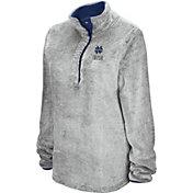 Colosseum Women's Notre Dame Fighting Irish Grey Goldenblatt Half-Snap Pullover Fleece