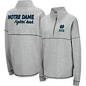 Colosseum Women's Notre Dame Fighting Irish Grey Horsetail Half-Zip Shirt