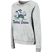 Colosseum Women's Notre Dame Fighting Irish Grey Tiger Pullover Sweatshirt