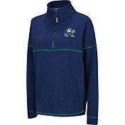 Colosseum Women's Notre Dame Fighting Irish Navy Horsetail Half-Zip Shirt