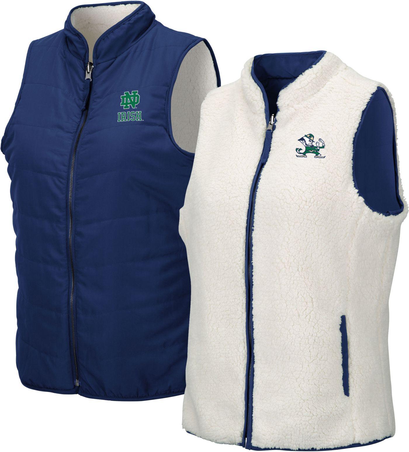 Colosseum Women's Notre Dame Fighting Irish Navy Blatch Reversible Full-Zip Vest