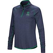 Colosseum Women's Notre Dame Fighting Irish Navy Stingray Quarter-Zip Shirt