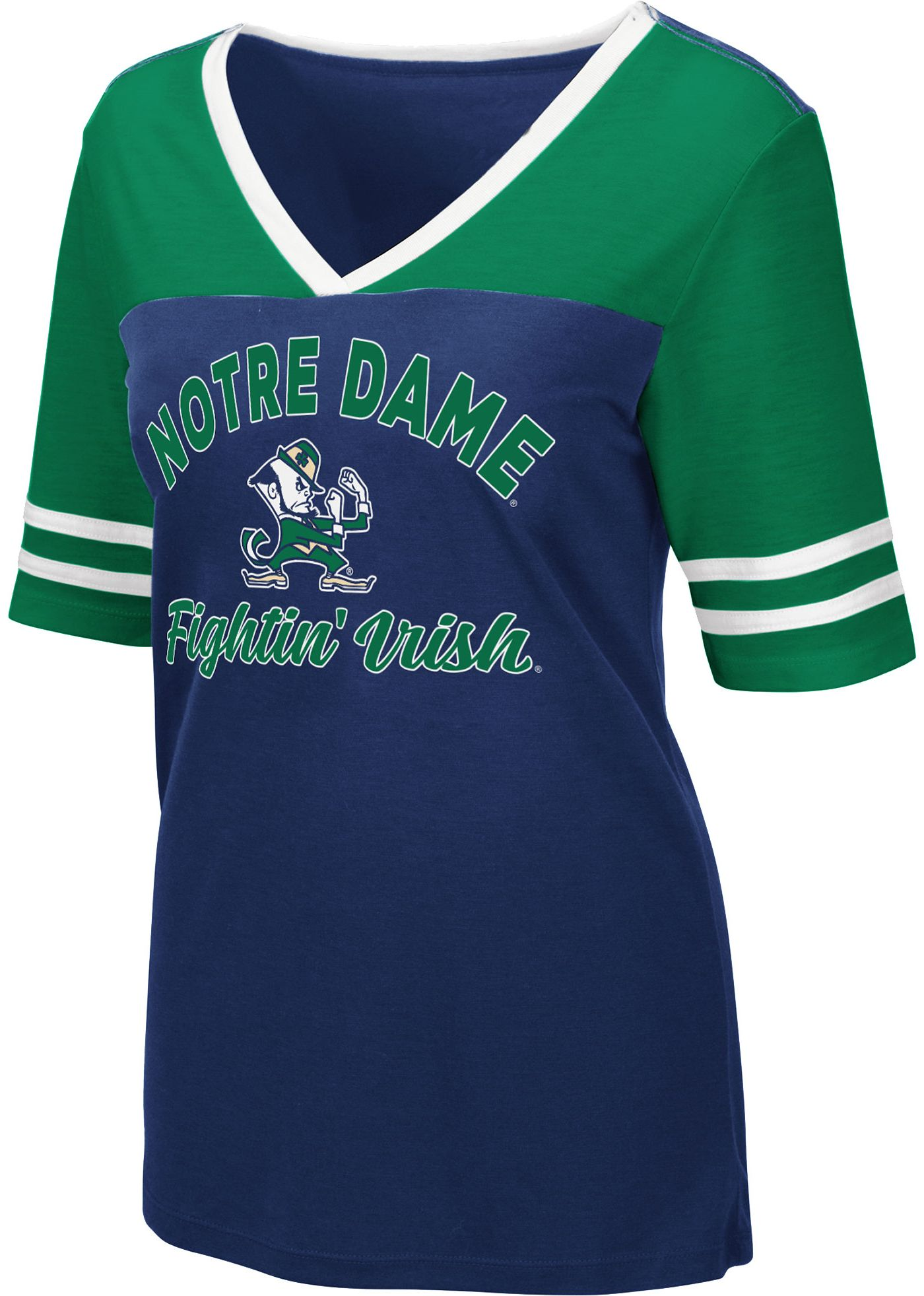 Colosseum Women's Notre Dame Fighting Irish Navy Samantha T-Shirt