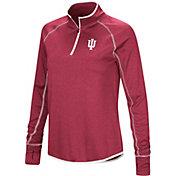 Colosseum Women's Indiana Hoosiers Crimson Stingray Quarter-Zip Shirt