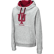 Colosseum Women's Indiana Hoosiers Grey Lily Pullover Hoodie
