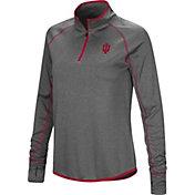 Colosseum Women's Indiana Hoosiers Grey Stingray Quarter-Zip Shirt