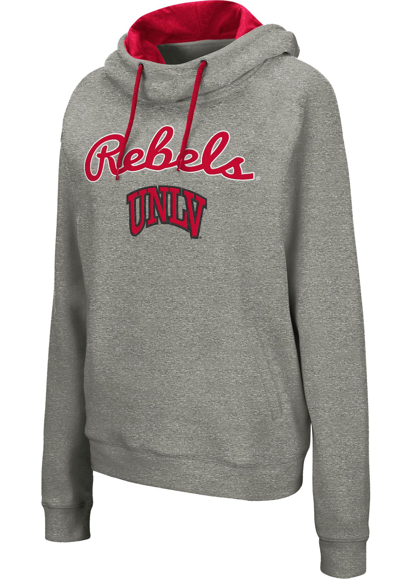 Colosseum Women's UNLV Rebels Grey Studio Funnel Pullover Hoodie