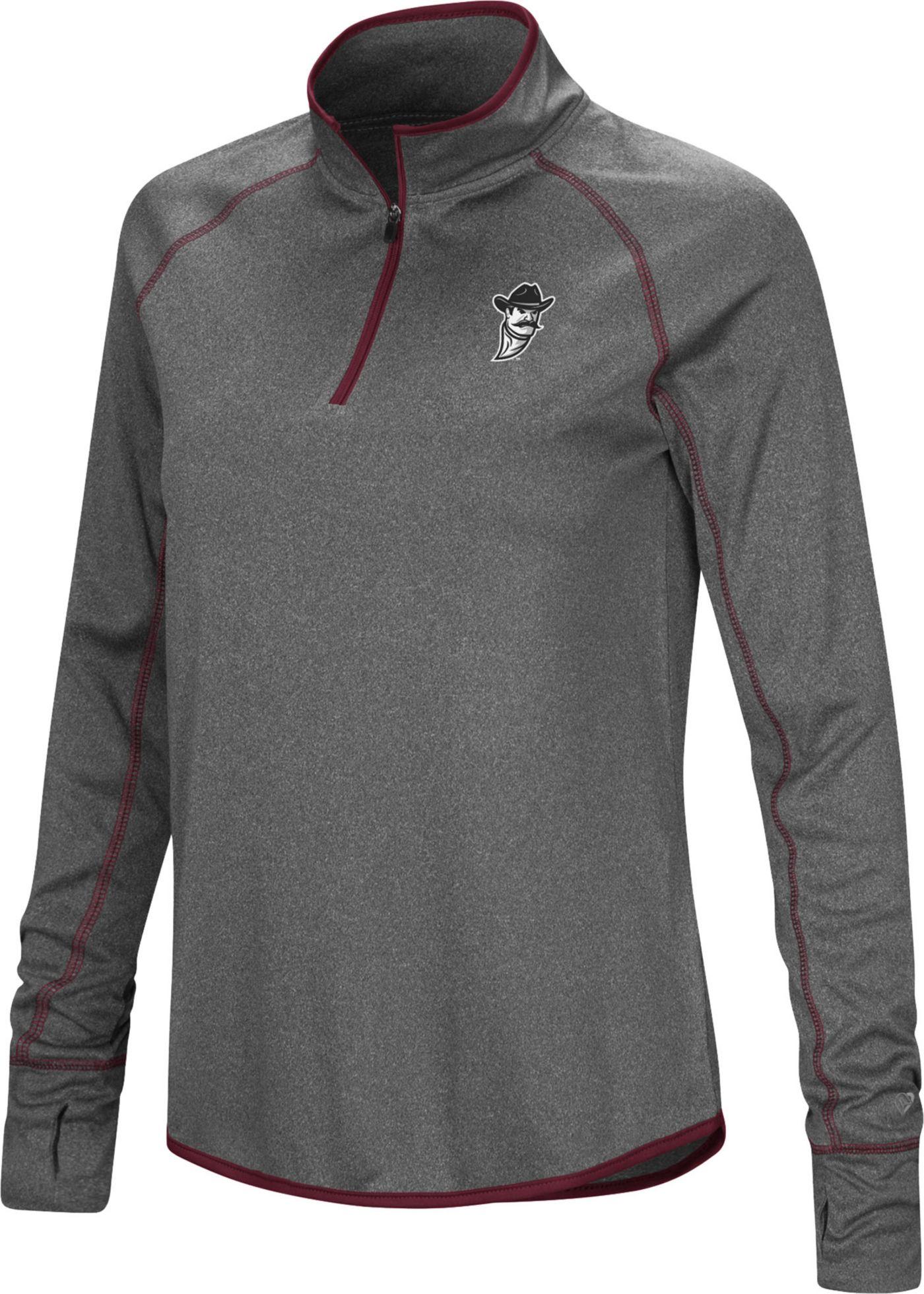 Colosseum Women's New Mexico State Aggies Grey Stingray Quarter-Zip Shirt