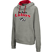 Colosseum Women's New Mexico Lobos Grey Studio Funnel Pullover Hoodie