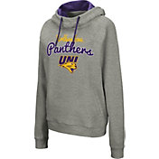 Colosseum Women's Northern Iowa Panthers  Grey Studio Funnel Pullover Hoodie