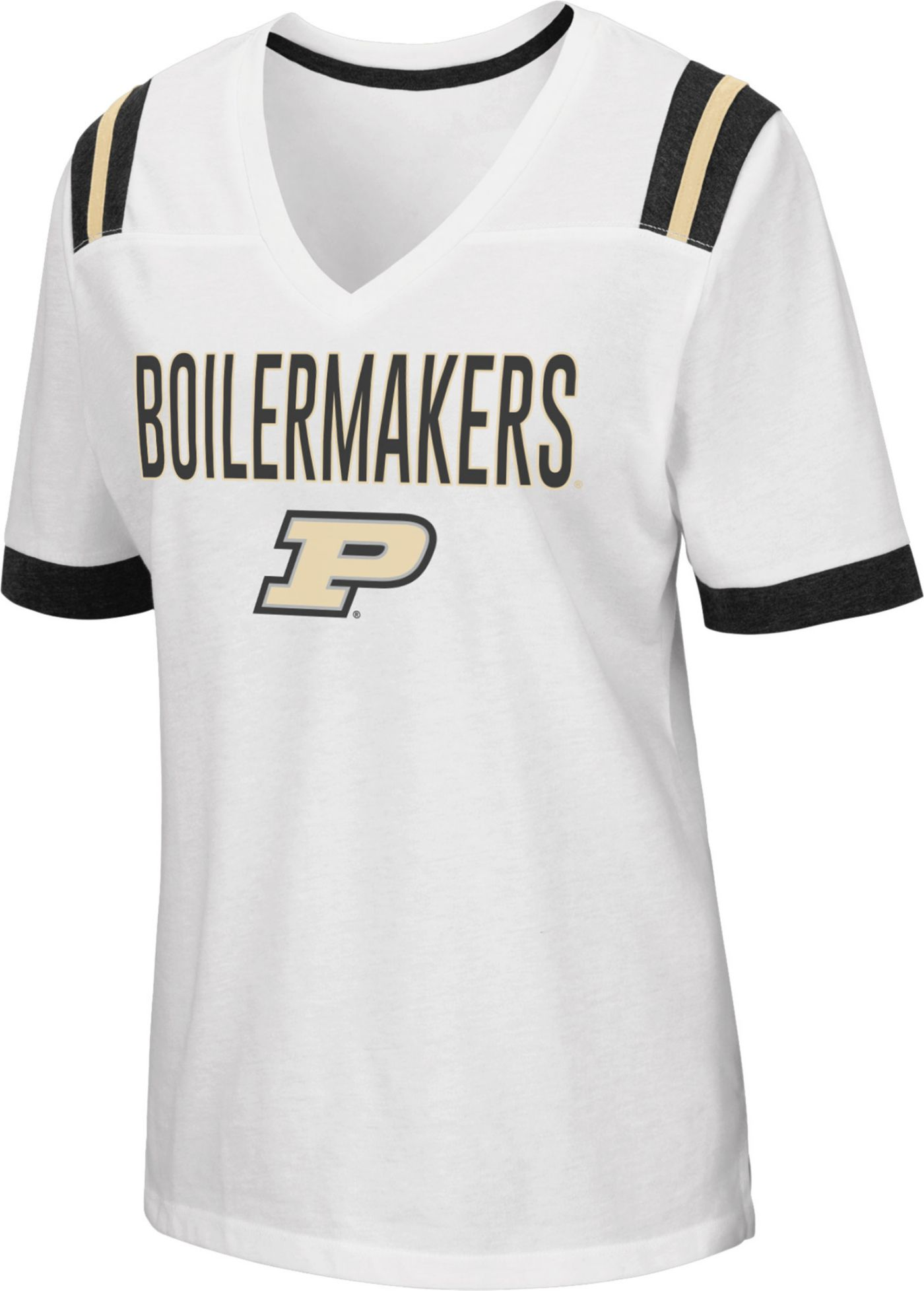 Colosseum Women's Purdue Boilermakers Lowland White T-Shirt