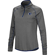 Colosseum Women's Penn State Nittany Lions Grey Stingray Quarter-Zip Shirt