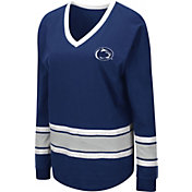 Colosseum Women's Penn State Nittany Lions Blue Alrighty Long Sleeve T-Shirt