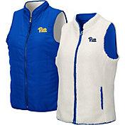 Colosseum Women's Pitt Panthers Blue Blatch Reversible Full-Zip Vest