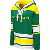 Colosseum Women's Oregon Ducks Green Choo Hockey Pullover Hoodie