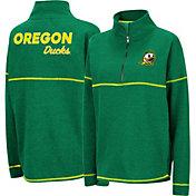 Colosseum Women's Oregon Ducks Green Horsetail Half-Zip Shirt