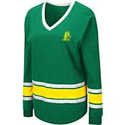 Colosseum Women's Oregon Ducks Green Alrighty Long Sleeve T-Shirt