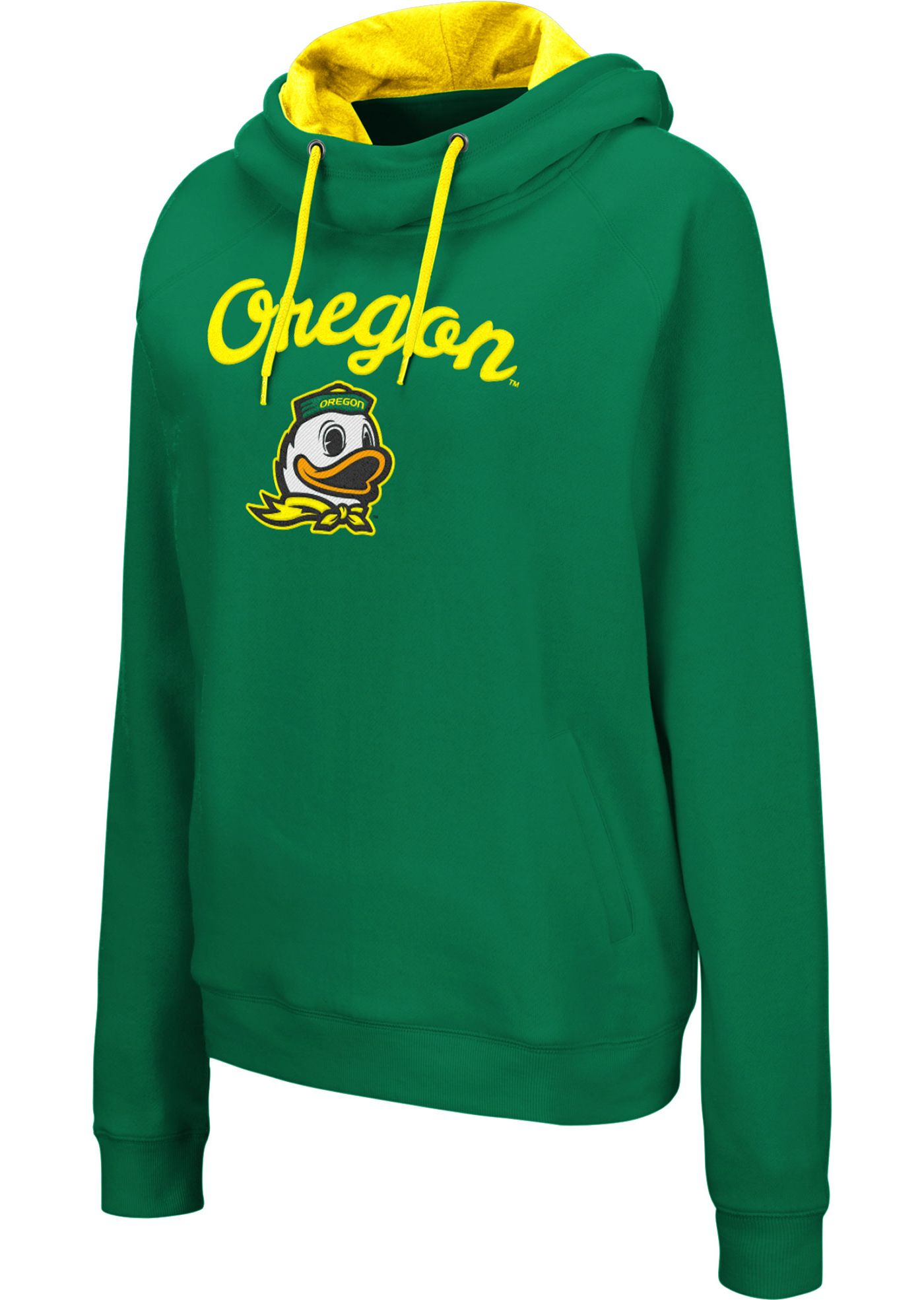 Colosseum Women's Oregon Ducks Green Louise Pullover Sweatshirt