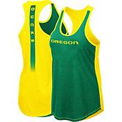 Colosseum Women's Oregon Ducks Green/Yellow Publicist Tank Top