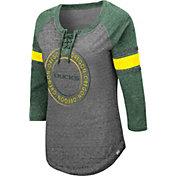 Colosseum Women's Oregon Ducks Grey Carrie Long Sleeve T-Shirt