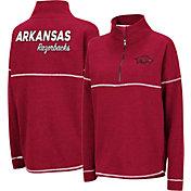 Colosseum Women's Arkansas Razorbacks Cardinal Horsetail Half-Zip Shirt